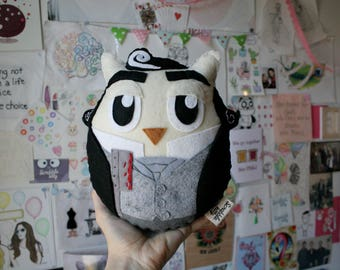 Sweeney Todd Owl - Felt Plush Toy