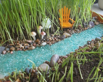 Nice Bubbling River Or River With Pond Miniature Garden Fairy Garden Faerie  Garden Fairy River Gnome