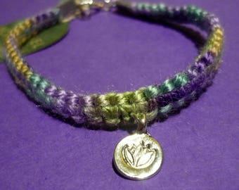 Multicolored Yarn Bracelet