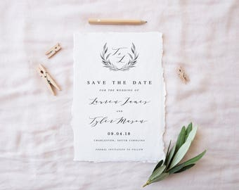 Save the Date, Save the Dates, Printable Save the Date, Calligraphy Save the Date, Save the Date Template, DIY Save the Date