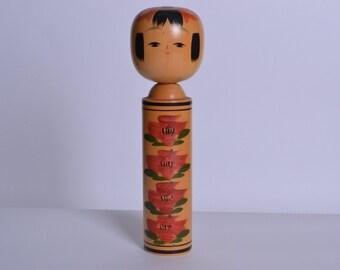 Japanese Vintage Kokeshi Doll 24cm japanese traditional wooden doll