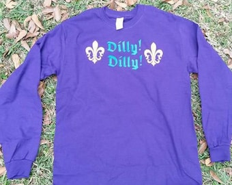 Dilly Dilly Mardi Gras purple long sleeve shirt