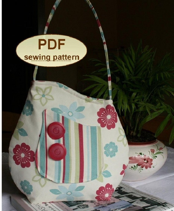 Sewing pattern to make the Sophia Bag - PDF pattern INSTANT DOWNLOAD