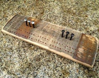 Whiskey Barrel Cribbage Board