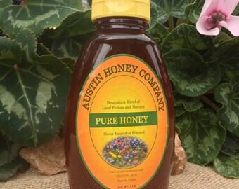 1 lb. Plastic Squeeze Jar Raw Wildflower Honey
