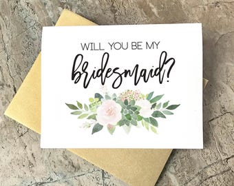 Will you be my Bridesmaid Cards, Wedding Cards, Floral To My Bridesmaid, Bridal Cards, Bridesmaid Gift, Bridesmaid Proposal, SU