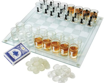 3-in-1 Shot Glass Chess Set