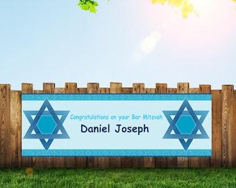 Bar Mitzvah,Bat Mitzvah,Banner,Bar Mitzvah Banner,Mazel Tov Banner