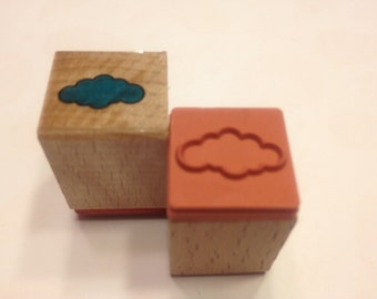 tiny cloud rubber stamp, 17 mm (BB4/5)