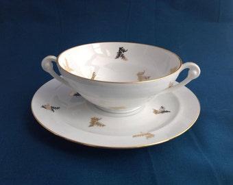 FORMER Cup BROTH Cup Broth Limoges porcelain Antique