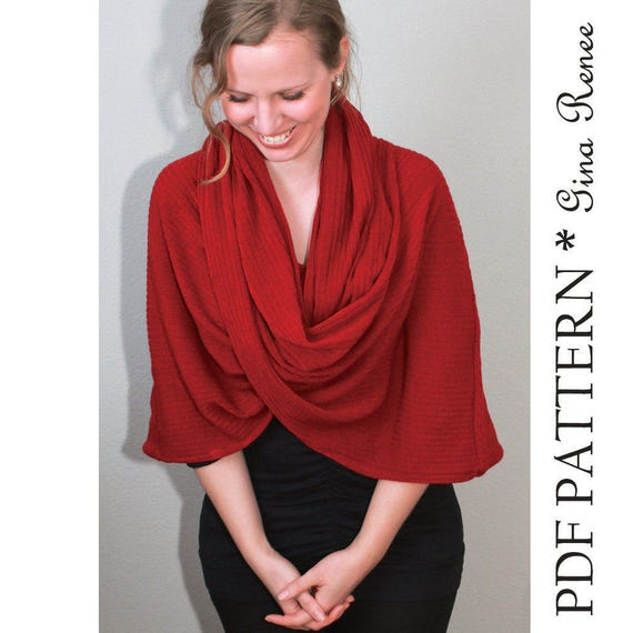 Infinity Scarf Pattern. Hooded Scarf pattern. Infinity Shawl ...