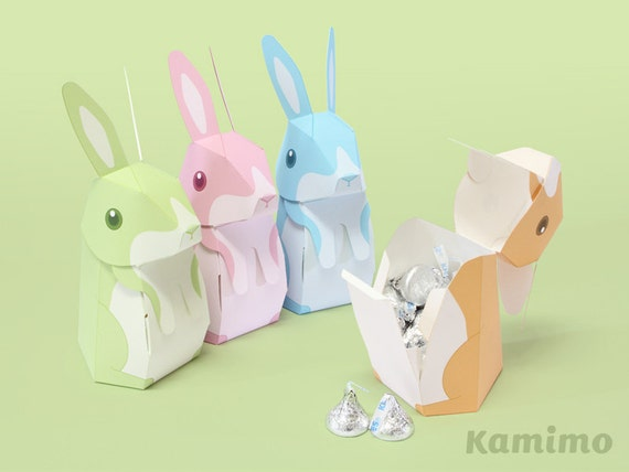 Easter bunny rabbit favor boxes gift boxes spring celebrations easter bunny rabbit favor boxes gift boxes spring celebrations printable paper craft pdf pastel colors from kamimodel on etsy studio negle Image collections