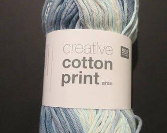 Creative cotton aran from Rico Design, gradient, print 6 different colors