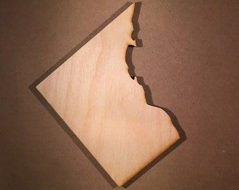 Washington DC Sign Wooden Cutouts - Large Sizes - Shapes for Projects or Other Use