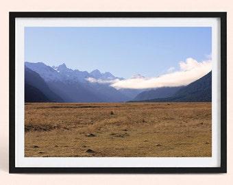 New Zealand Valley | Minimalist Landscape Photography Print | New Zealand Mountain | Poster Print | Art Print | Scandinavian