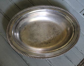 Oval Silver Plated Serving Dish
