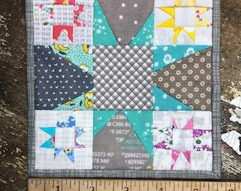 Wonky Star Micro Mini Quilt PDF Pattern