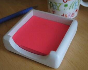 Concrete Post It Note Holder / Sticky Note Holder / Post It Note Dispenser / Office Organization / Modern Office Desk / Office Gift Women