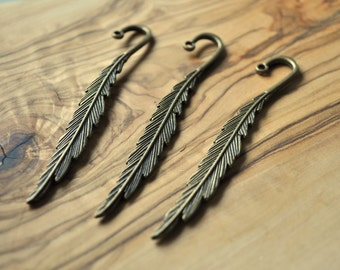 Feather Bookmark - Antique Bronze - Metal Bookmark