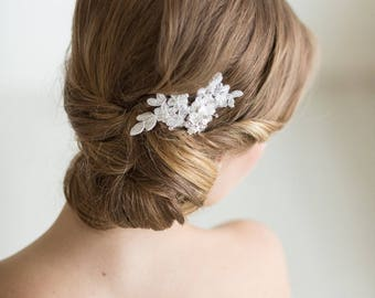 Petite Lace Hair Comb, Floral Bridal Hair Pin, Wedding Hair Accessory, Lace Bridal Comb, Wedding Hair Comb