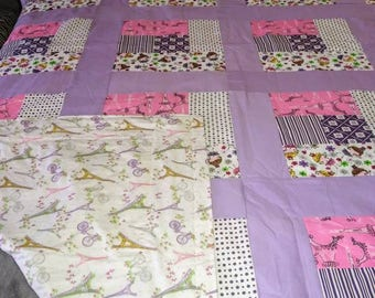 Handmade quilt girls cutie pie