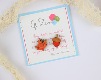 Tiny Leaf Earrings, Tiny Acorn Earrings, Leaf Acorn studs, Autumn Studs Posts, Nature Studs Posts,  Unmatched Studs Posts,  Tree Studs Posts
