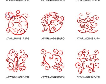 Christmas-Art-Deco ( 10 Machine Embroidery Designs from ATW ) XYZ17B