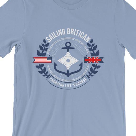 Men's Sailing T-Shirt - Sailing T shirt, Sailing Tshirt, Nautical T-shirt, Sailboat Shirt, Sailing Shirt, Stocking Stuffers for Men