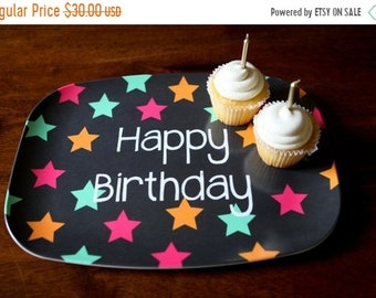 Memorial Day Sale Personalized Melamine Platter - Custom Birthday Tray holiday celebration
