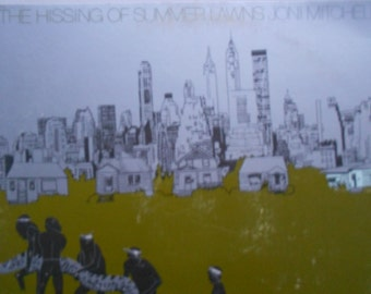Joni Mitchell - The Hissing Of Summer Lawns - vinyl record