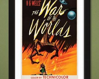 H.G. Wells – War of the Worlds 1953 Movie Poster (12x18 Heavyweight Art Print)