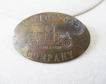 VIntage Yellow Cab lapel pin - Estate find!