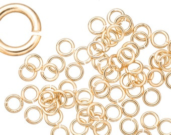 18 gauge Jump Rings Jump Rings gold finished brass 5.5mm sold per 200pcs