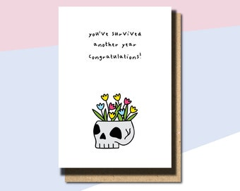 Funny Birthday Card, Birthday For Brother, Weirdo Birthday Card, Funny Card For Friend, Blunt Birthday Greeting, birthday congrats card