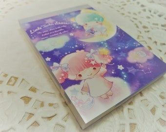 100 Pc. Little Twin Star Mini Memo Pad Stationery Homework School Supplies, Paper Supplies, Snail mail, Notes, Scrapbooking, Packing Slips.