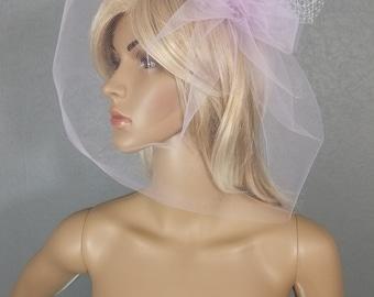 Birdcage Veil, Wedding Veil, Bridal Veil, Lavender, Purple, Veil, Bridal Accessory, Cage Veil, Bride, Accessory, Gift