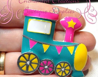 "2"" Adorable Enamel Circus Train Engine"