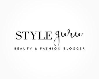 Beauté & mode conception de Logo, Logo du Blog, écriture, Signature, Script, Logo Premade