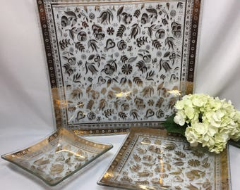 Set of 3 Georges Briard Trays