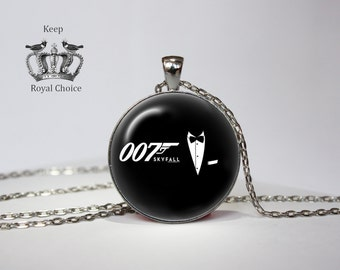 Secret Agent 007 Necklace, James Bond Pendant, perfect gift, Necklace for him,  Art Gifts for Her