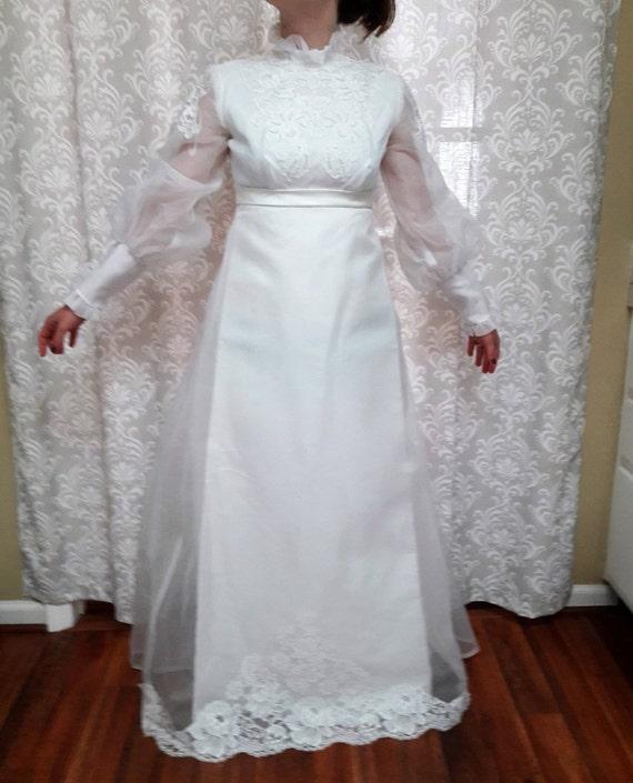 Jahrgang 1960 Hochzeit Kleid Hochzeits-Kleid Vintage 60er