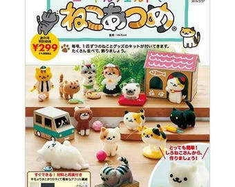 "Special Price!,Needlefelt  Kit,""Neko Atsume with Needlefelt vol.1 Shironeko-san"""