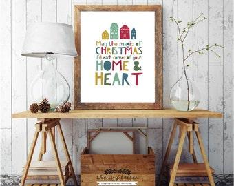 Christmas Printable Art, Christmas Quote Prints, Gift Cards Christmas Ideas, Holiday Decor Wall Art, DIGITAL DOWNLOAD, 4x6, 5x7, 8x10, A4