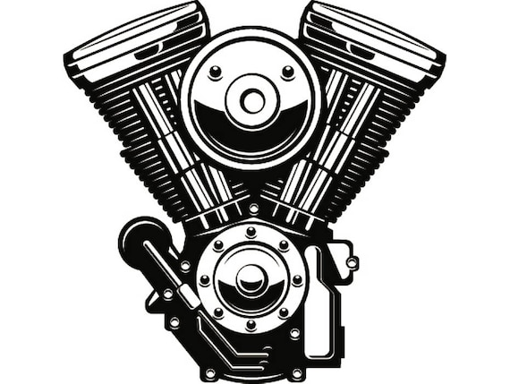 Engine 5 Mechanic Motorcycle Car Automotive Chrome Car