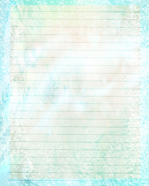 Druckbare Journalseite Baby blau gefüttert Briefpapier 8 x