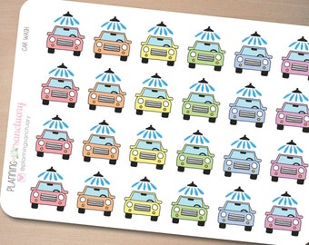 Car Wash Reminder Planner Stickers Perfect for Erin Condren, Kikki K, Filofax and all other Planners