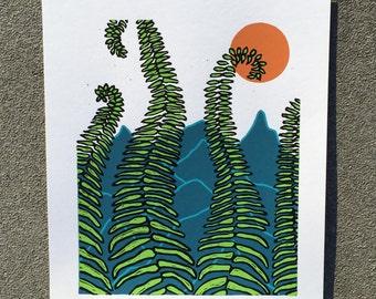Seeking Shade, 2017 (Original Hand-pulled Screen Print)