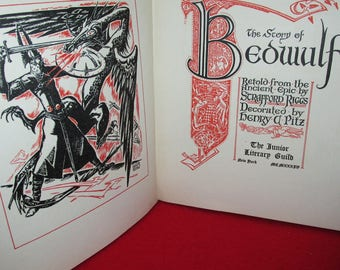 "Vintage ""The Story of Beowulf"" by The Junior Literary Guild"