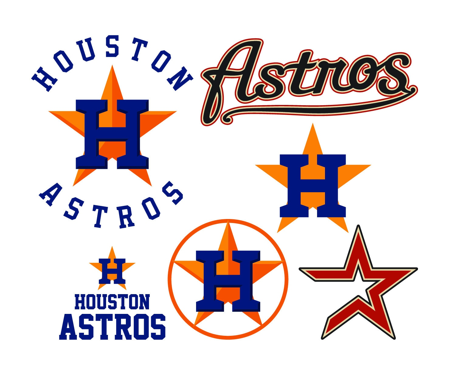 Houston Astros Cut Files Houston Astros Svg Files