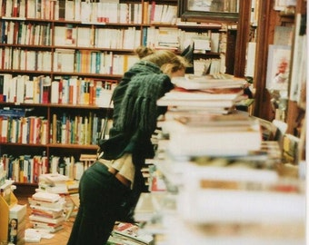 "Original film of the analog photograph ""The Girl in the Bookshop"""